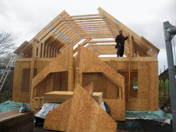how to build a house with only passive heating